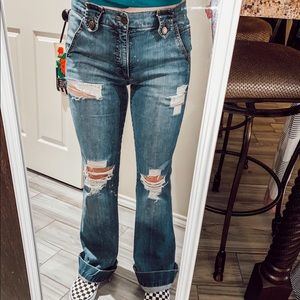 Marc Jacobs Distressed Flare Jeans